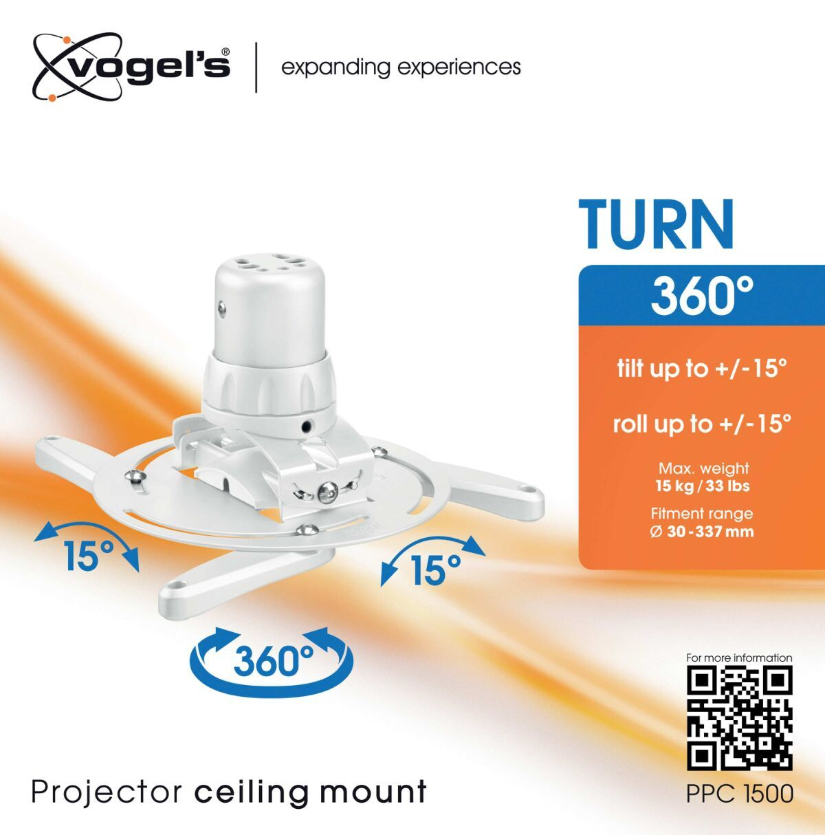 Vogel's PPC 1500 Projector ceiling mount white - Packaging front