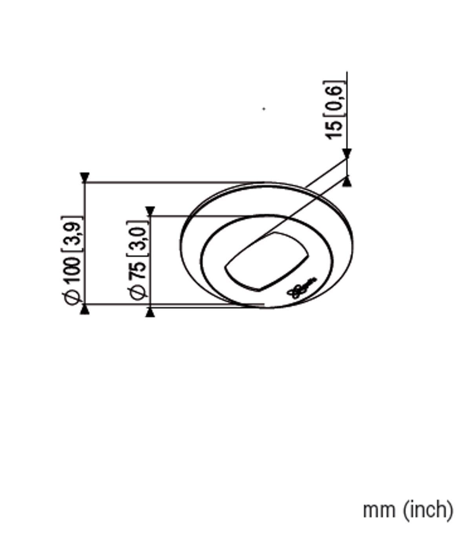 Vogel's PFA 9106 Deckenabdeckung für PUC 21xx / PUC 23xx - Dimensions