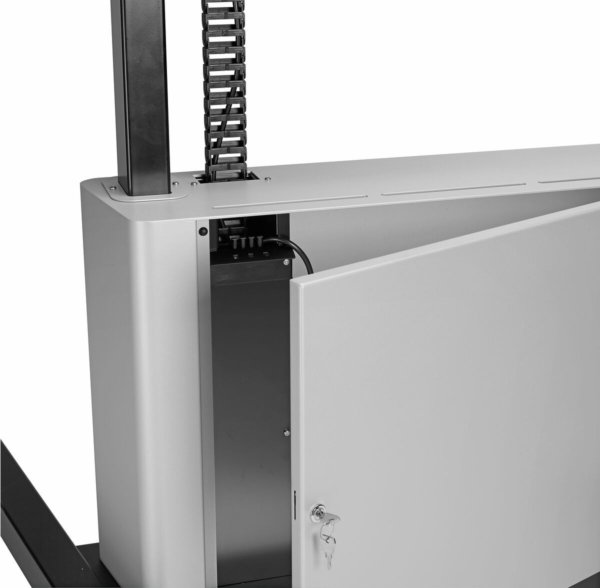 Vogel's PFTE 7111 Display trolley motorized with cabinet - Detail