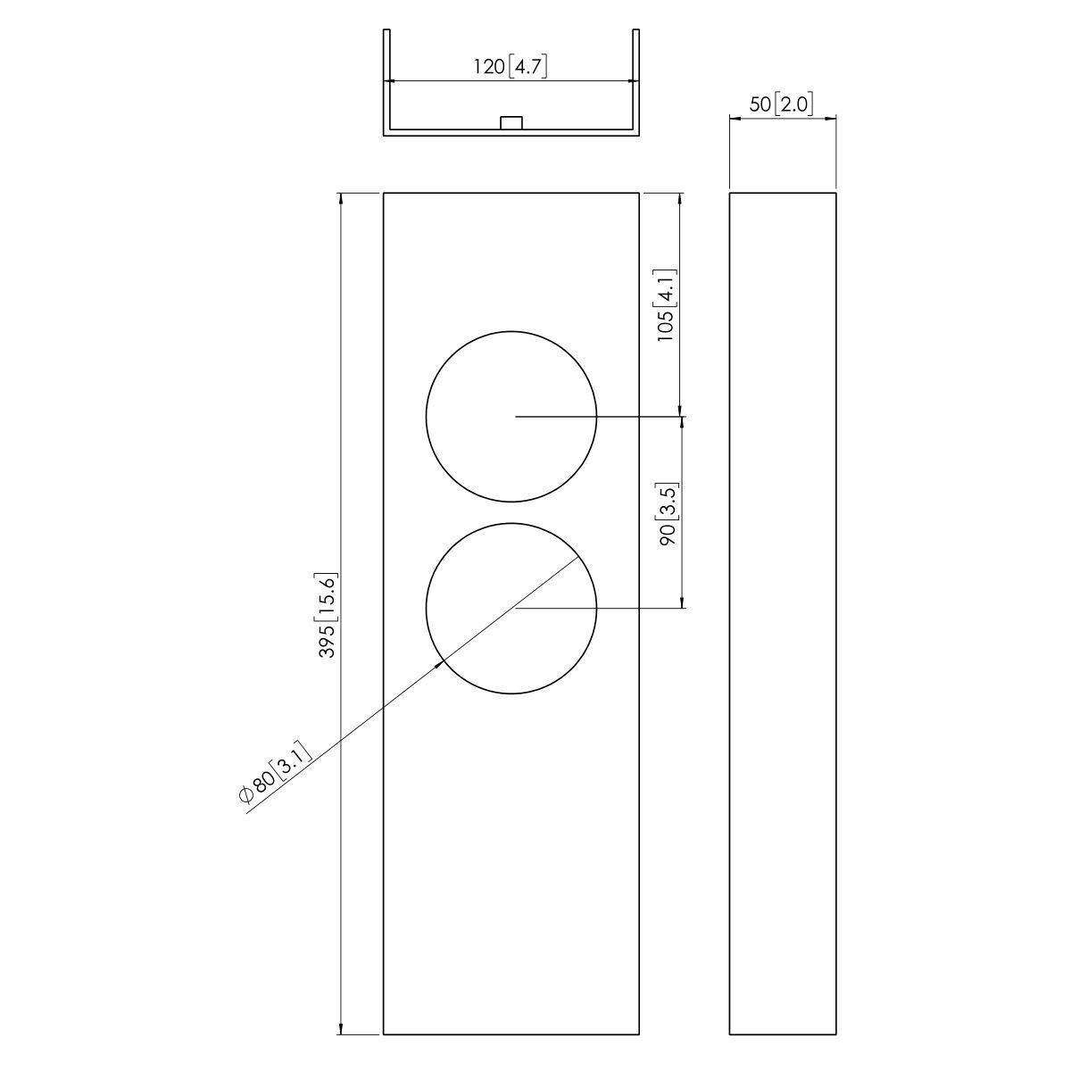 Vogel's PFA 9031 Morsetto per colonna - Dimensions
