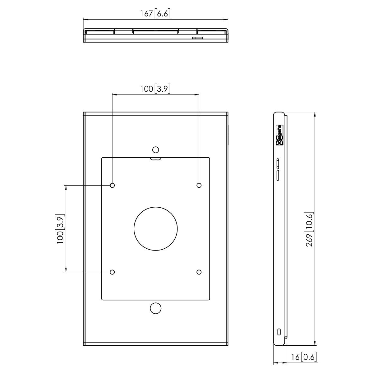 Vogel's PTS 1225 TabLock für iPad mini (2019) - Dimensions