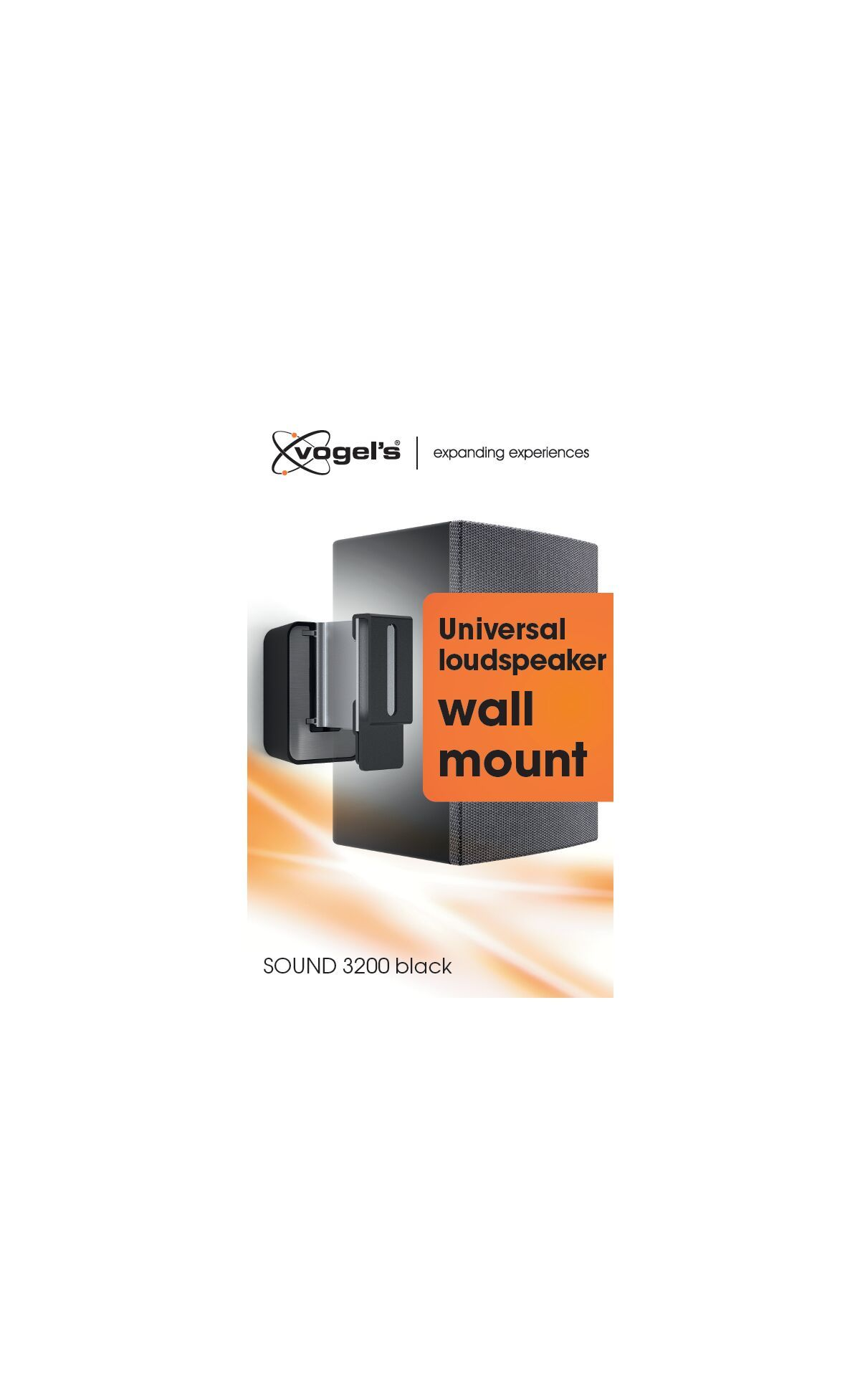 Vogel's SOUND 3200 Speaker Wall Mount (black) - Ideally suited for: Universal - Max. weight load: 5 kg - Packaging front