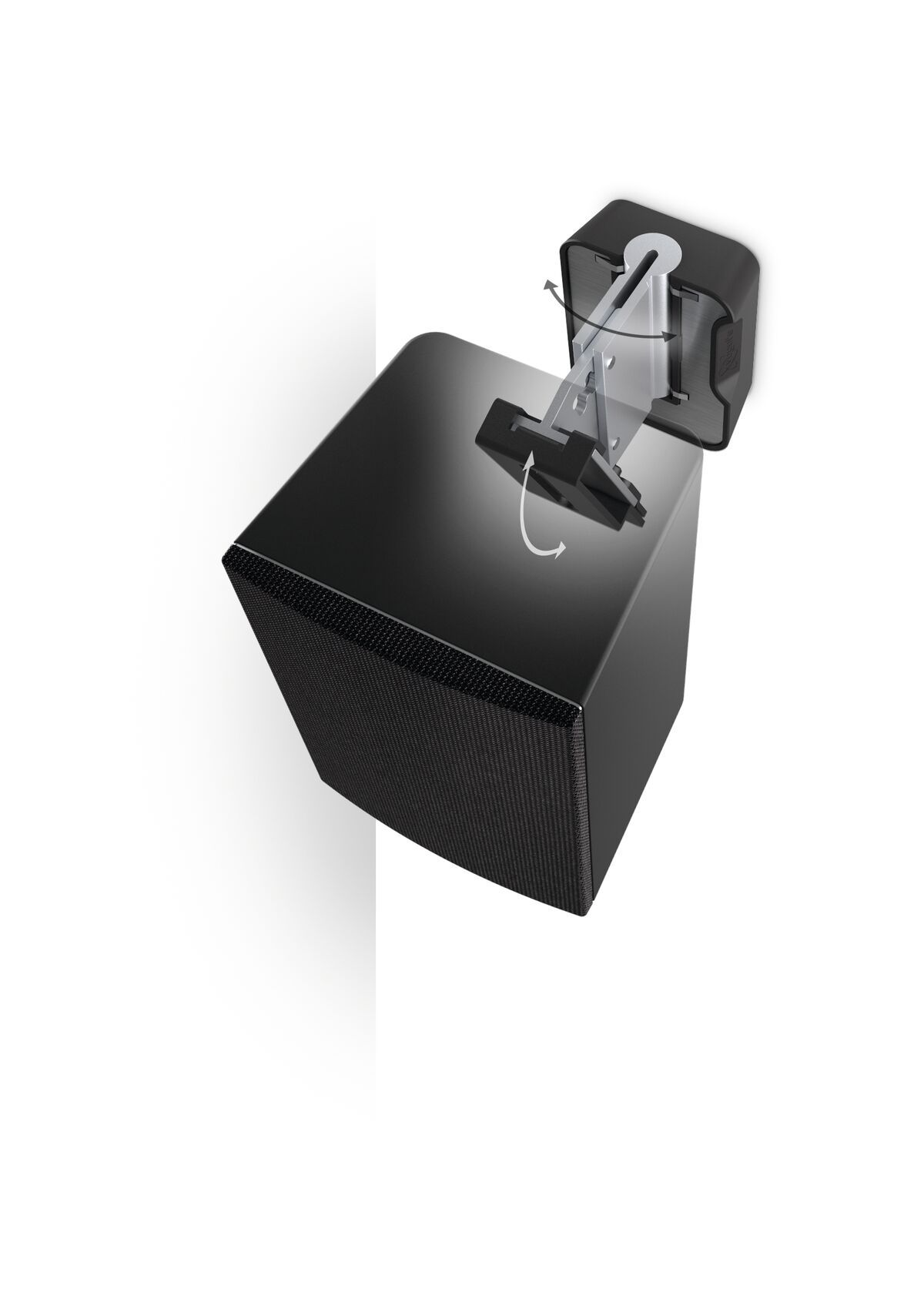 Vogel's SOUND 3200 Speaker Wall Mount (black) - Ideally suited for: Universal - Max. weight load: 5 kg - Top view