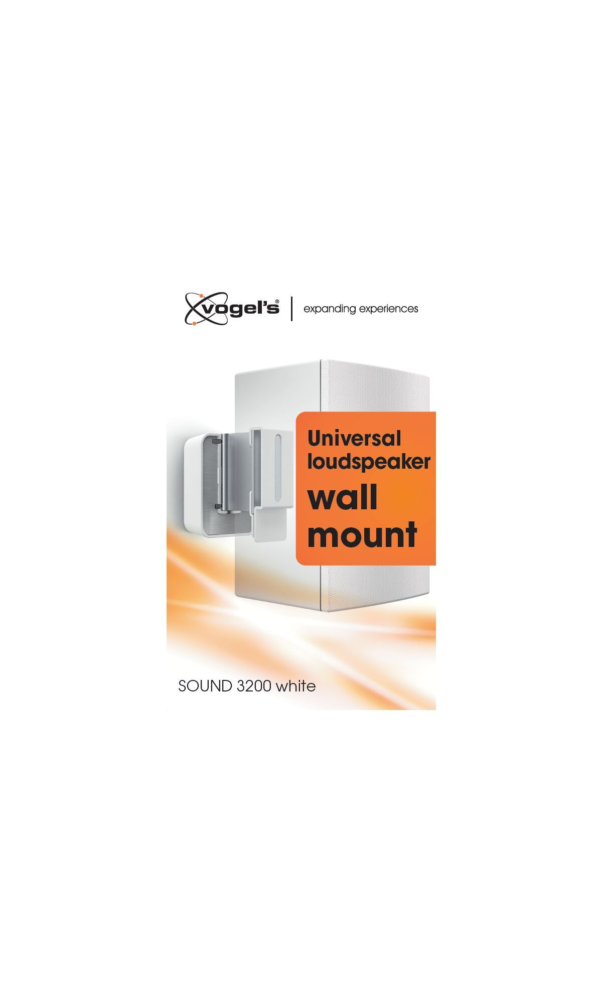Vogel's SOUND 3200 Speaker Wall Mount (white) - Ideally suited for: Universal - Max. weight load: 5 kg - Packaging front