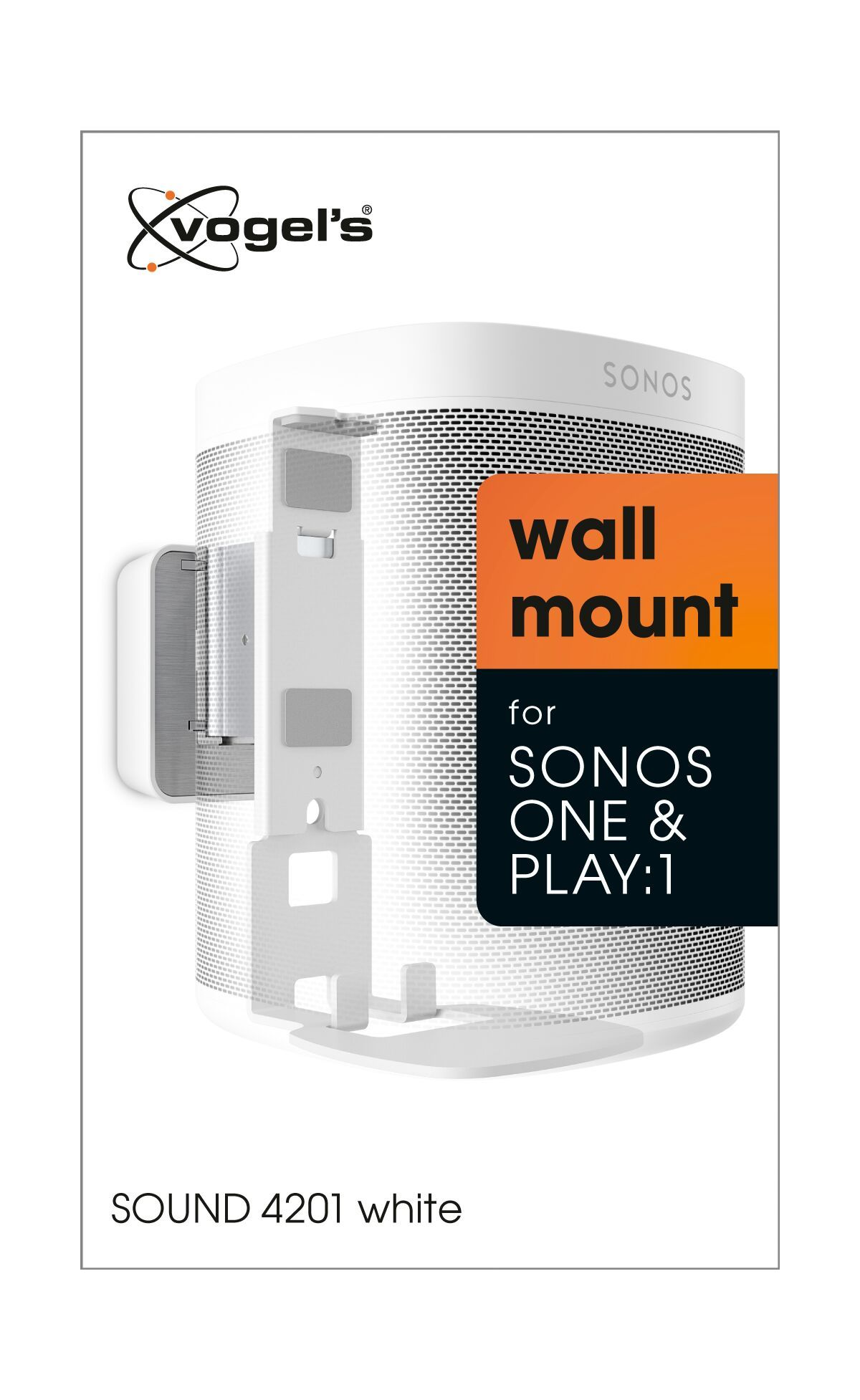 Vogel's SOUND 4201 Soporte de pared para Sonos One (SL) & Play:1 (blanco) - Packaging front