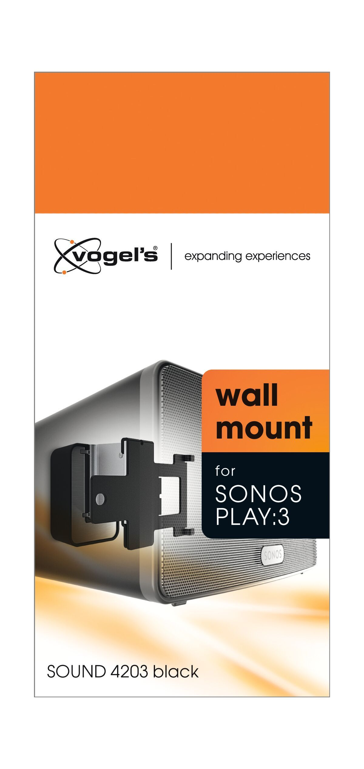 Vogel's SOUND 4203 Speaker Wall Mount for SONOS PLAY:3 (black) - Packaging front