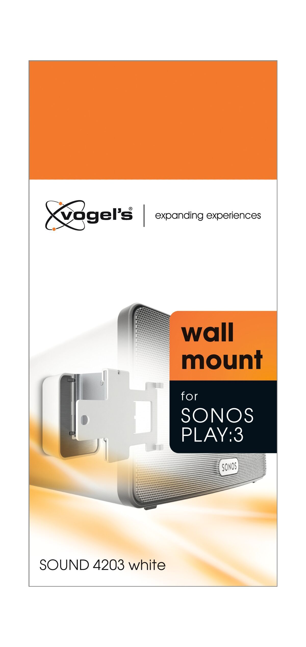 Vogel's SOUND 4203 Support enceinte pour Sonos PLAY:3 (blanc) - Packaging front