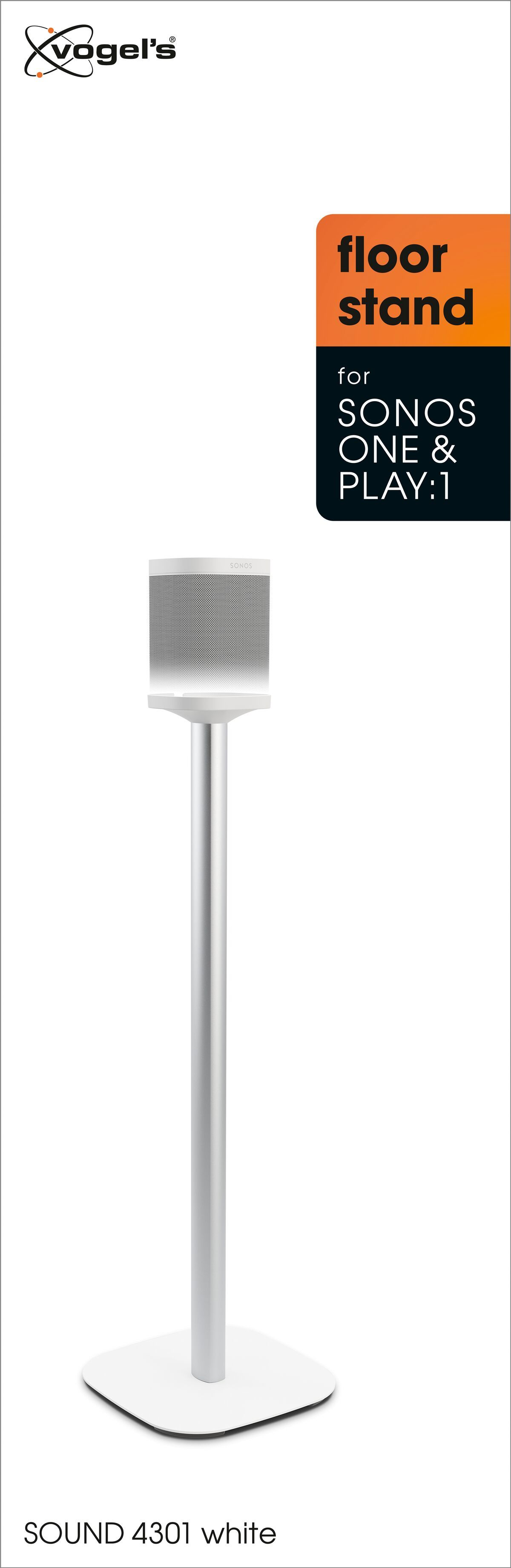 Vogel's SOUND 4301 Speaker stand for SONOS ONE (SL) & PLAY:1 (white) - Packaging front
