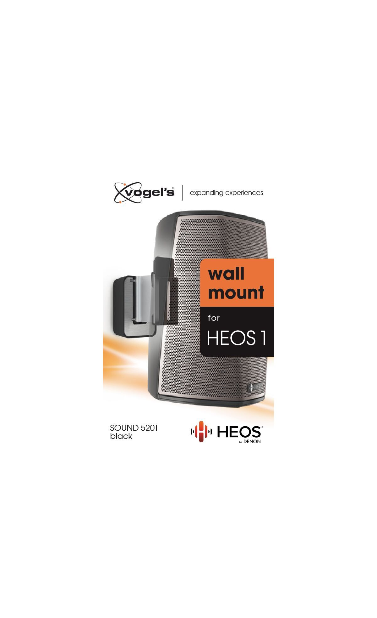 Vogel's SOUND 5201 Speaker Wall Mount for Denon HEOS 1 (black) - Packaging front