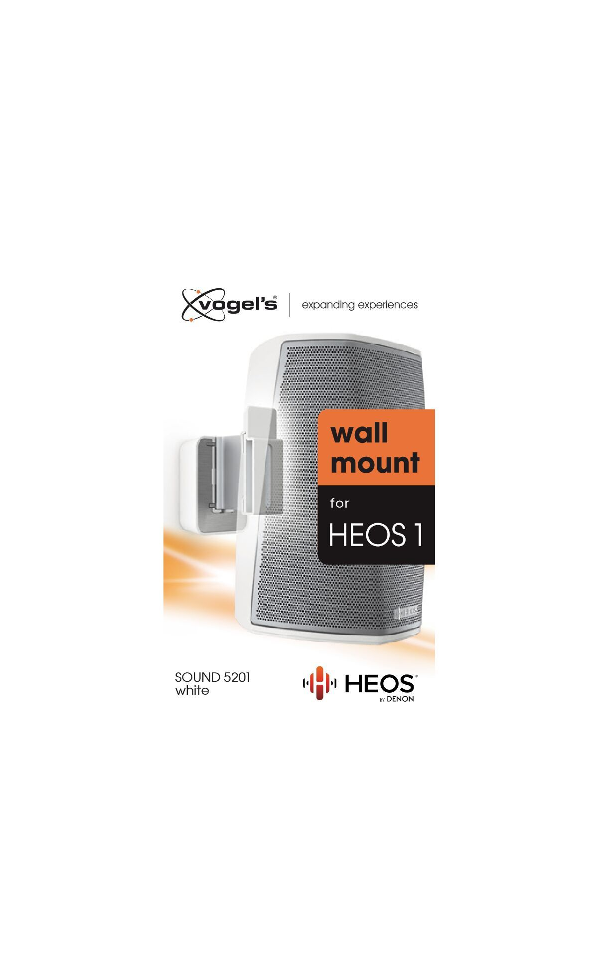 Vogel's SOUND 5201 Speaker Wall Mount for Denon HEOS 1 (white) - Packaging front