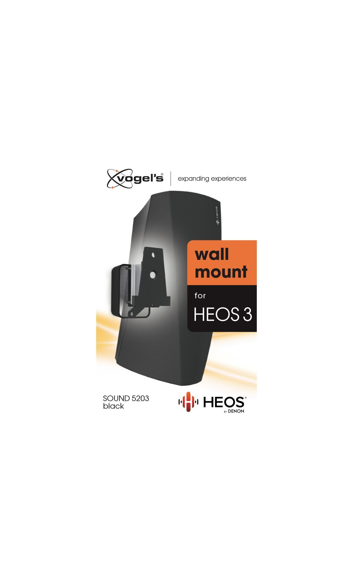 Vogel's SOUND 5203 Support enceinte pour Denon HEOS 3 (noir) - Packaging front