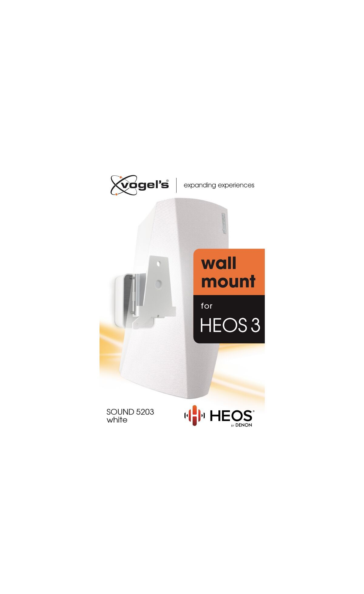 Vogel's SOUND 5203 Speaker Wall Mount for Denon HEOS 3 (white) - Packaging front