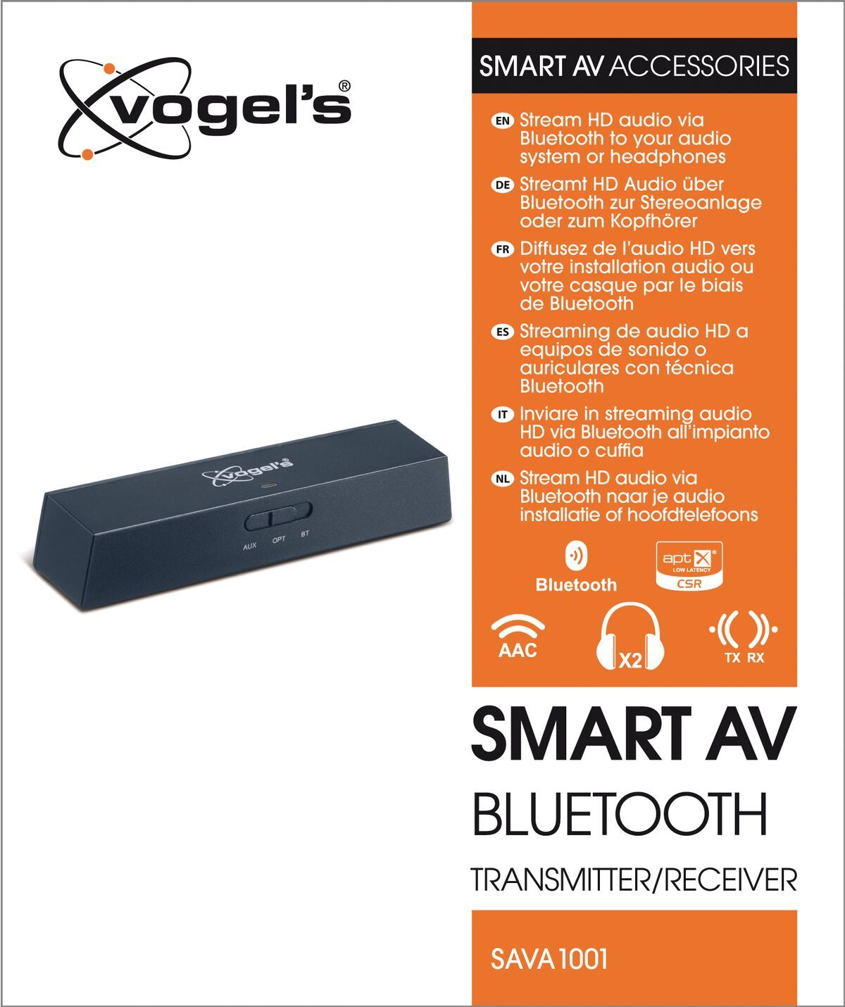 Vogel's SAVA 1001 Smart AV Bluetooth transmitter/receiver - Packaging front