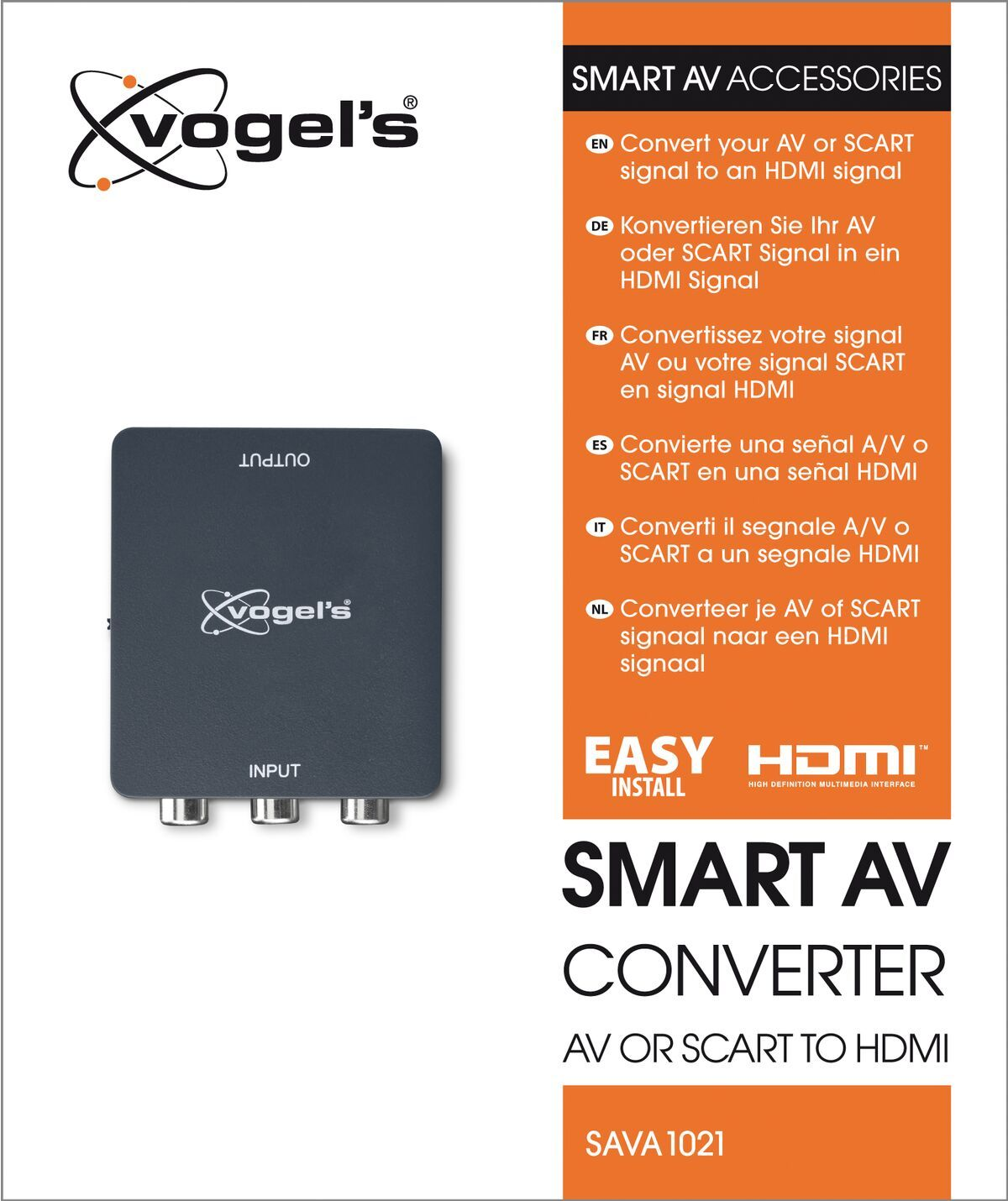 Vogel's SAVA 1021 Smart AV converter AV to HDMI - Packaging front