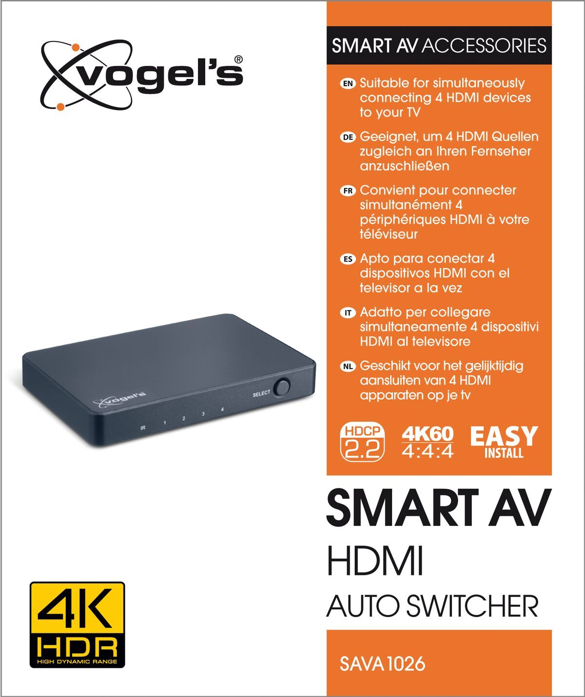 Vogel's Conmutador audiovisual automático HDMI inteligente SAVA 1026 - Packaging front