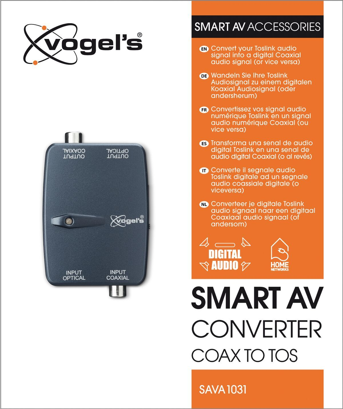 Vogel's SAVA 1031 – Convertitore coassiale per TOS Smart AV - Packaging front