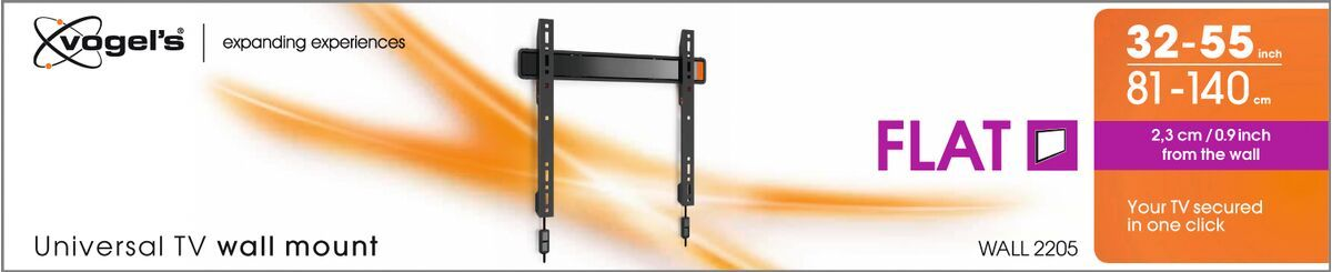 Vogel's WALL 2205 Fixed TV Wall Mount - Suitable for 32 up to 55 inch TVs up to kg - Packaging front