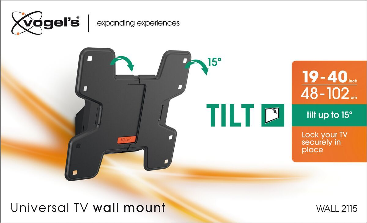 Vogel's WALL 2115 Tilting TV Wall Mount - Suitable for 19 up to 40 inch TVs up to 15 kg - Tilt up to 15° - Packaging front
