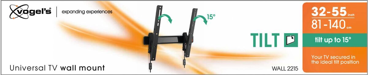 Vogel's WALL 2215 Tilting TV Wall Mount - Suitable for Tilt up to 15° - Suitable for Pack shot 3D