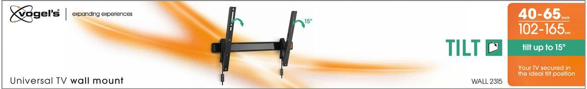 Vogel's WALL 2315 Tilting TV Wall Mount - Suitable for 40 up to 65 inch TVs up to kg - Tilt up to 15° - Packaging front