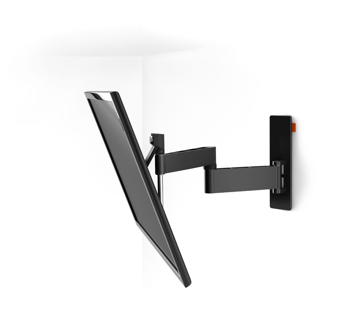 Vogel's WALL 2245 Full-Motion TV Wall Mount (black) - Suitable for 32 up to 55 inch TVs - Up to 180° - Tilt up to 20° - White wall