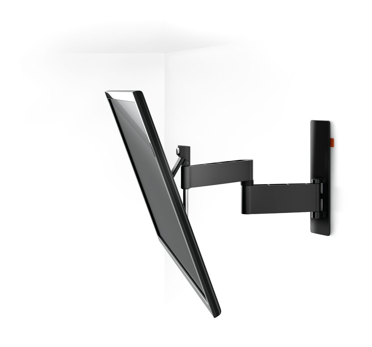 Vogel's WALL 2345 Full-Motion TV Wall Mount (black) - Suitable for 40 up to 65 inch TVs - Full motion (up to 180°) - Tilt up to 20° - White wall