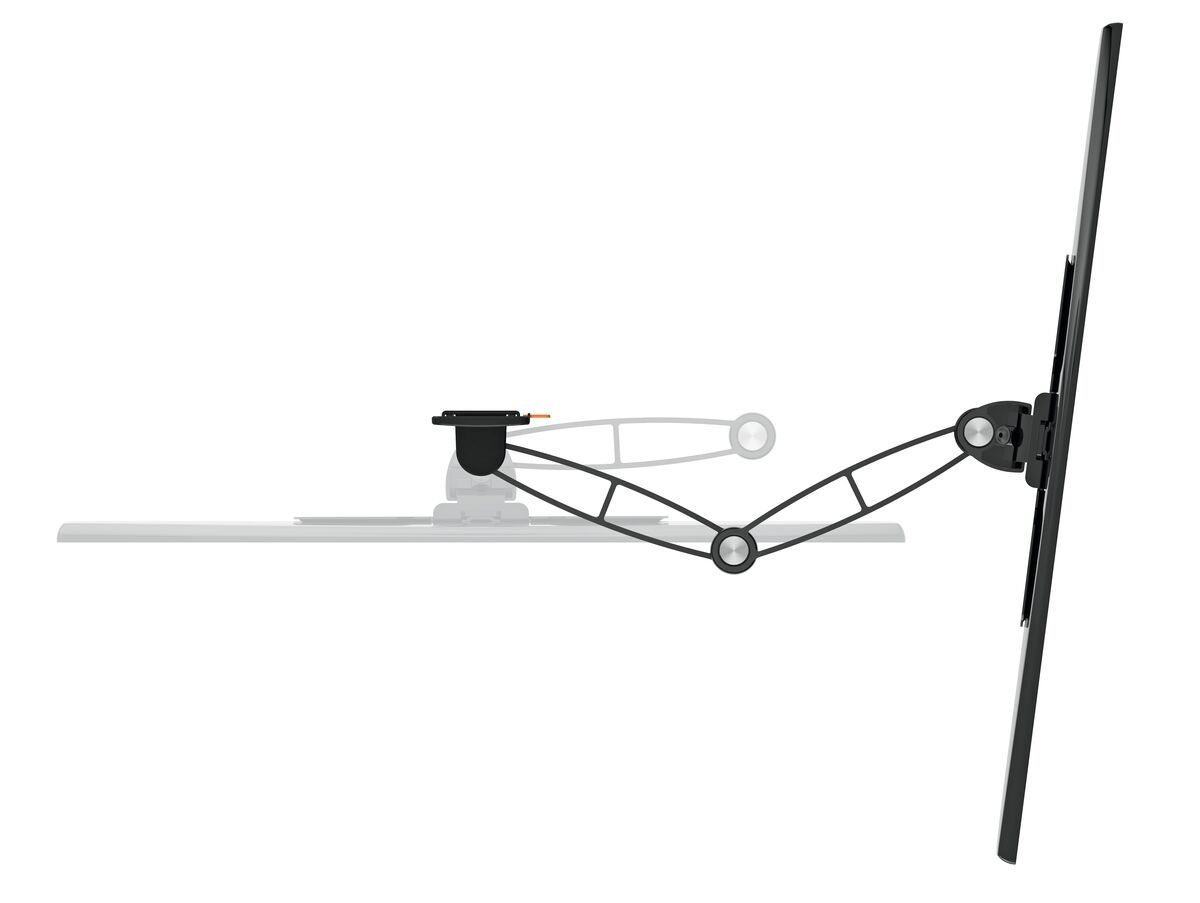 Vogel's WALL 3145 Full-Motion TV Wall Mount (black) - Suitable for 19 up to 43 inch TVs - Full motion (up to 180°) - Tilt -10°/+10° - Top view