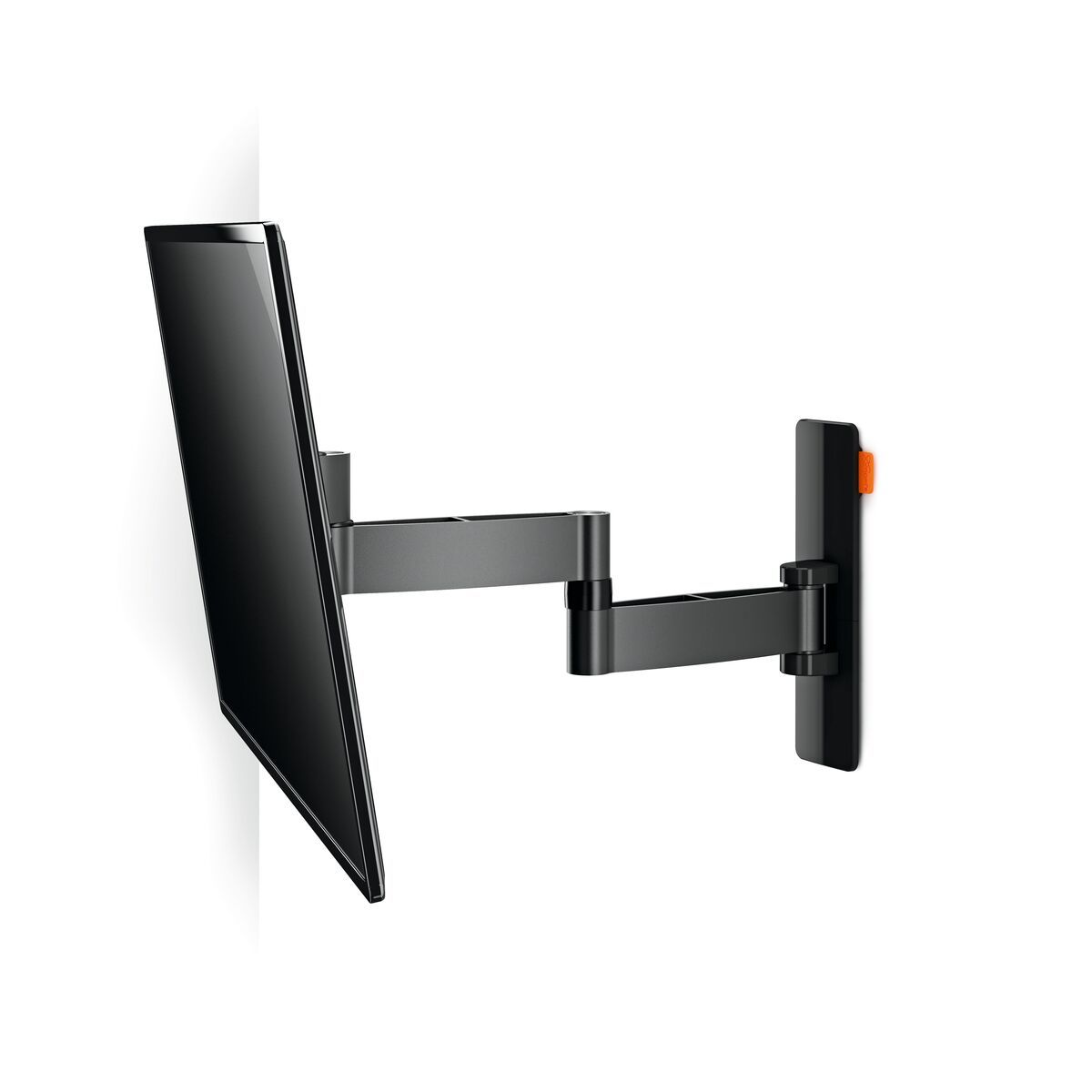 Vogel's WALL 3145 Full-Motion TV Wall Mount (black) - Suitable for 19 up to 43 inch TVs - Full motion (up to 180°) - Tilt -10°/+10° - White wall