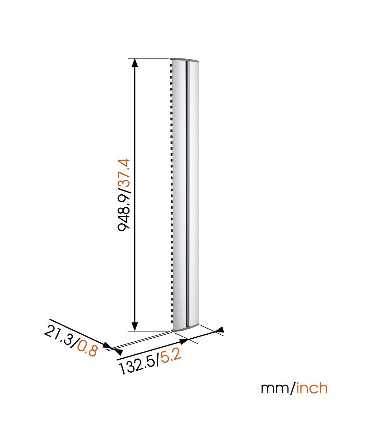 Vogel's CABLE 10 L Cable Column - Max. number of cables to hold: Up to 10 cables - Length: 94 cm - Dimensions