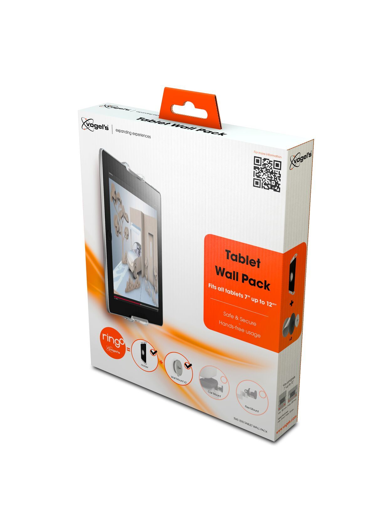 Vogel's TMS 1010 Tablet Wall Pack - Pack shot 3D