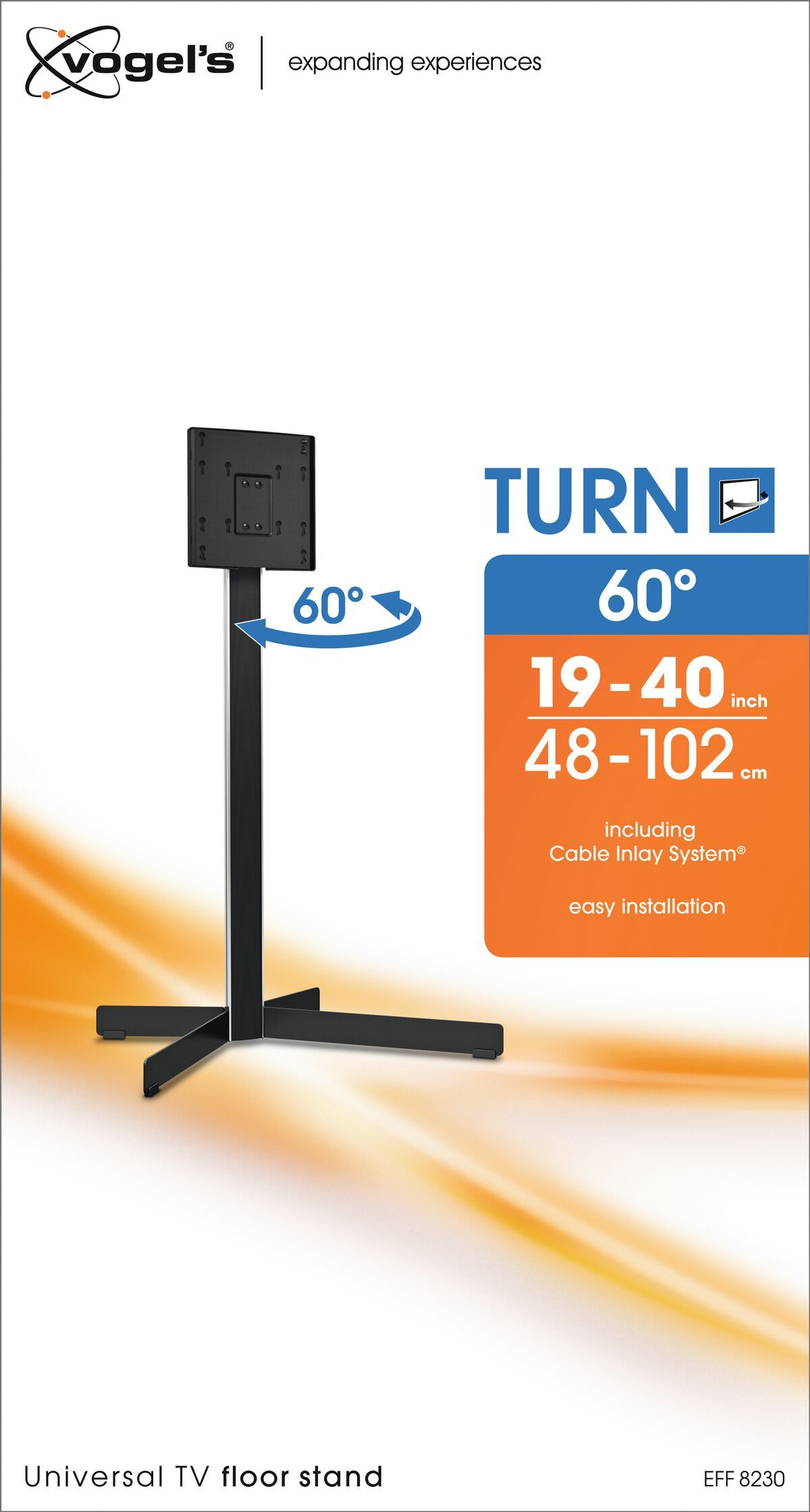 Vogel's EFF 8230 TV Floor Stand - Suitable for 19 up to 40 inch TVs up to 30 kg - Packaging front