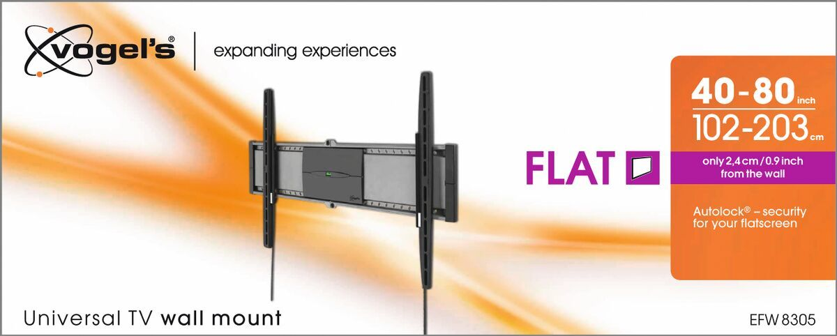 Vogel's EFW 8305 Fixed TV Wall Mount - Suitable for 40 up to 80 inch TVs up to 70 kg - Packaging front