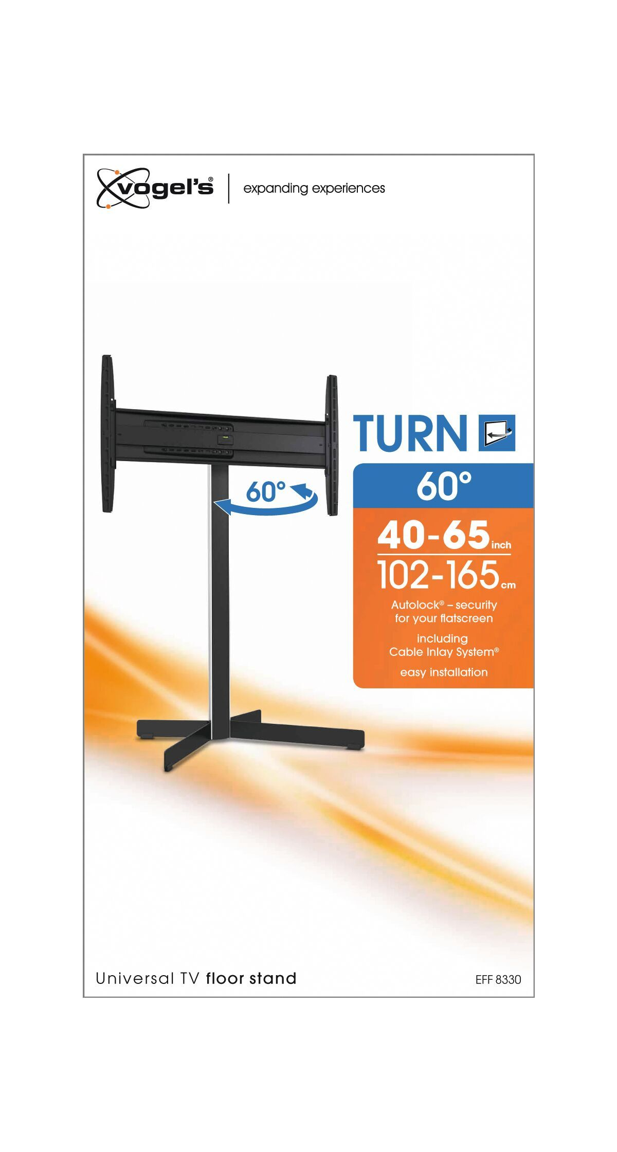 Vogel's EFF 8330 TV Floor Stand - Suitable for 40 up to 65 inch TVs up to 45 kg - Packaging front