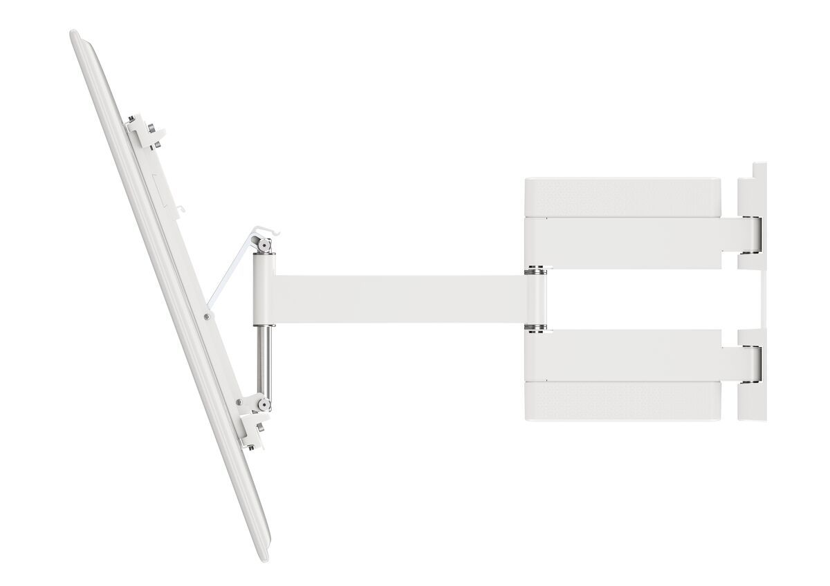 Vogel's THIN 445 ExtraThin Full-Motion TV Wall Mount (white) - Suitable for 26 up to 55 inch TVs - Full motion (up to 180°) - Tilt up to 20° - Side view