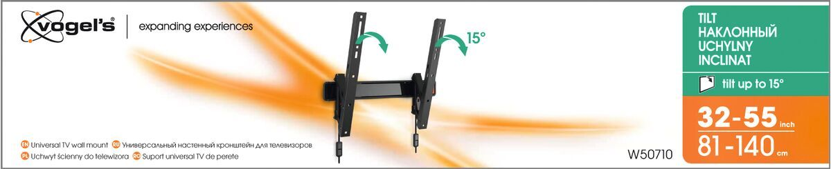 Vogel's W50710 Tilting TV Wall Mount - Suitable for 32 up to 55 inch TVs up to 30 kg - - Packaging front