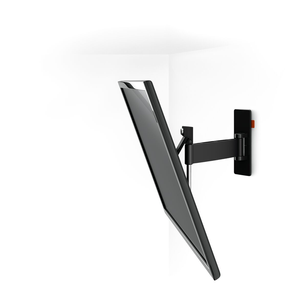 Vogel's W52080 Full-Motion TV Wall Mount (black) - Suitable for 40 up to 65 inch TVs - Motion (up to 120°) - Tilt up to 20° - White wall