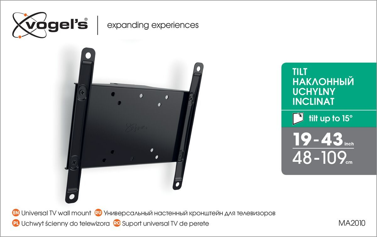 Vogel's MA 2010 (A1) Tilting TV Wall Mount - Suitable for 19 up to 40 inch TVs up to 30 kg - Tilt up to 15° - Packaging front
