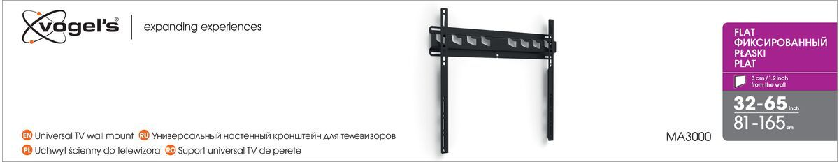 Vogel's MA 3000 (A1) uchwyt płaski do telewizora - Nadaje się do telewizorów od 32 do 55 cali do 60 kg - Packaging front