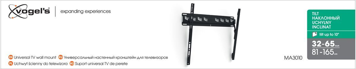 Vogel's MA 3010 (A1) Tilting TV Wall Mount - Suitable for 32 up to 55 inch TVs up to 40 kg - Tilt up to 10° - Packaging front