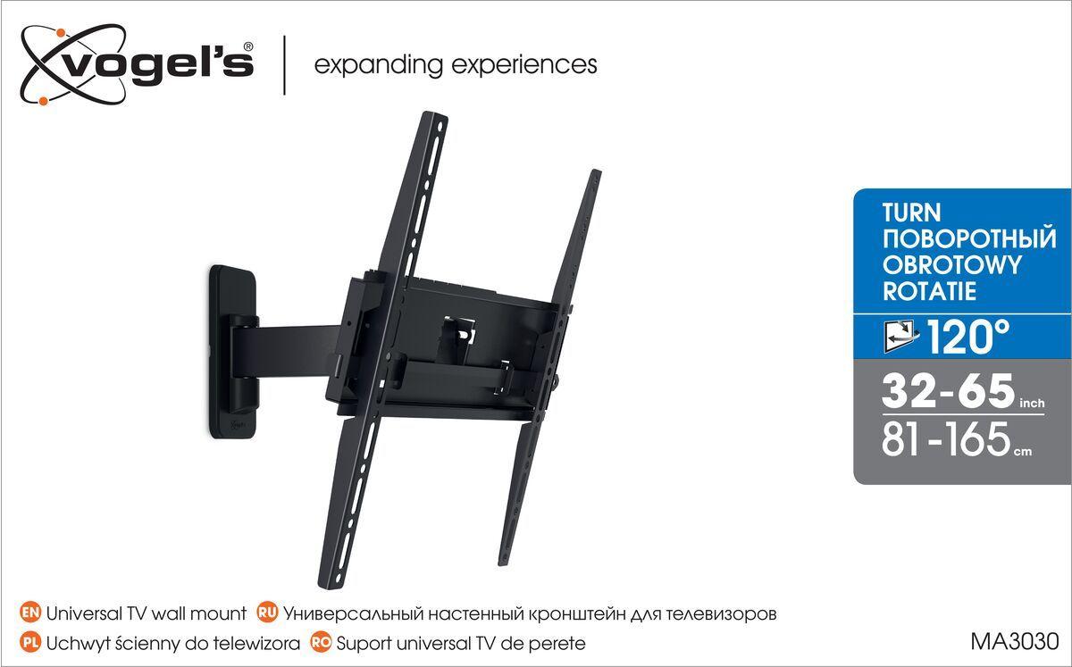 Vogel's MA 3030 (A1) uchwyt regulowany do telewizora - Nadaje się do telewizorów od 32 do 55 cali - Obrotowy (do 120°) - Uchylny do 15° - Packaging front
