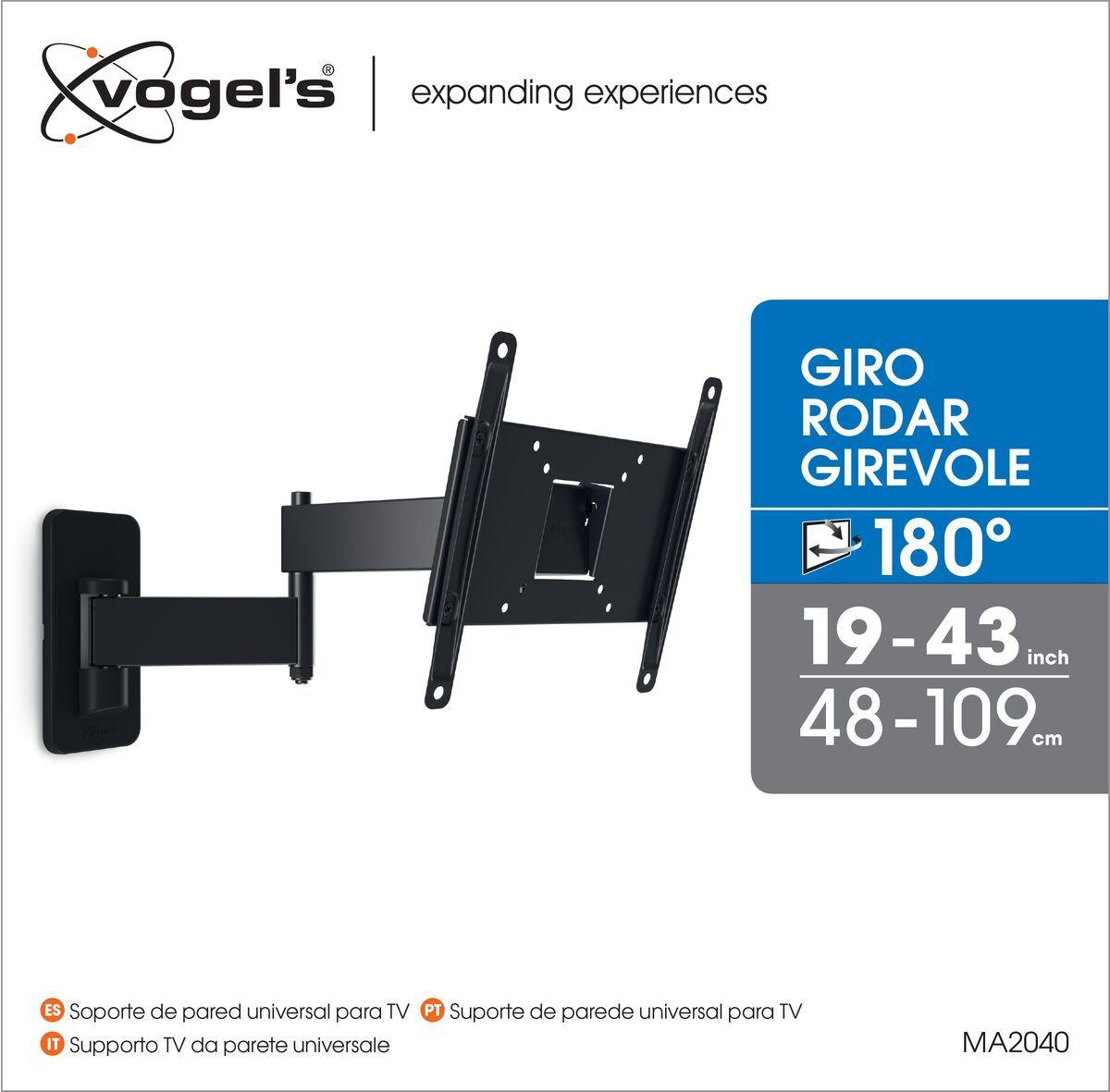 Vogel's MA 2040 Staffa TV Girevole - Adatto per televisori da Movimento completo (fino a 180°) - Adatto per televisori da Inclinazione fino a 10° - Adatto per televisori da Packaging front