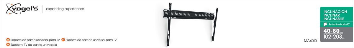 Vogel's MA 4010 (A1) Tilting TV Wall Mount - Suitable for 40 up to 65 inch TVs up to 60 kg - Tilt up to 10° - Packaging front