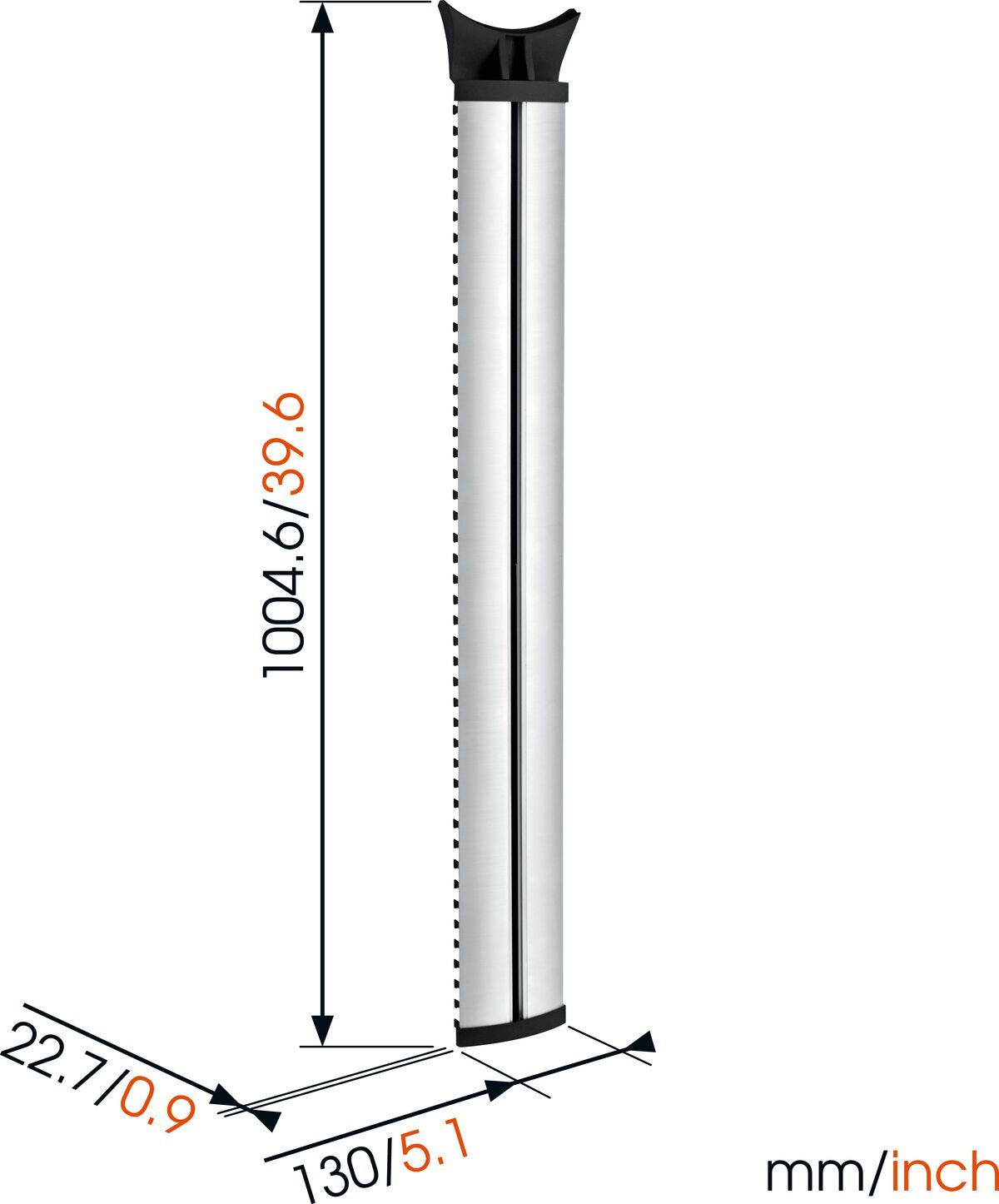 Vogel's NEXT 7840 Cable Column - Max. aantal kabels in kabelgoot: Tot 10 kabels - Lengte: 100 cm - Dimensions