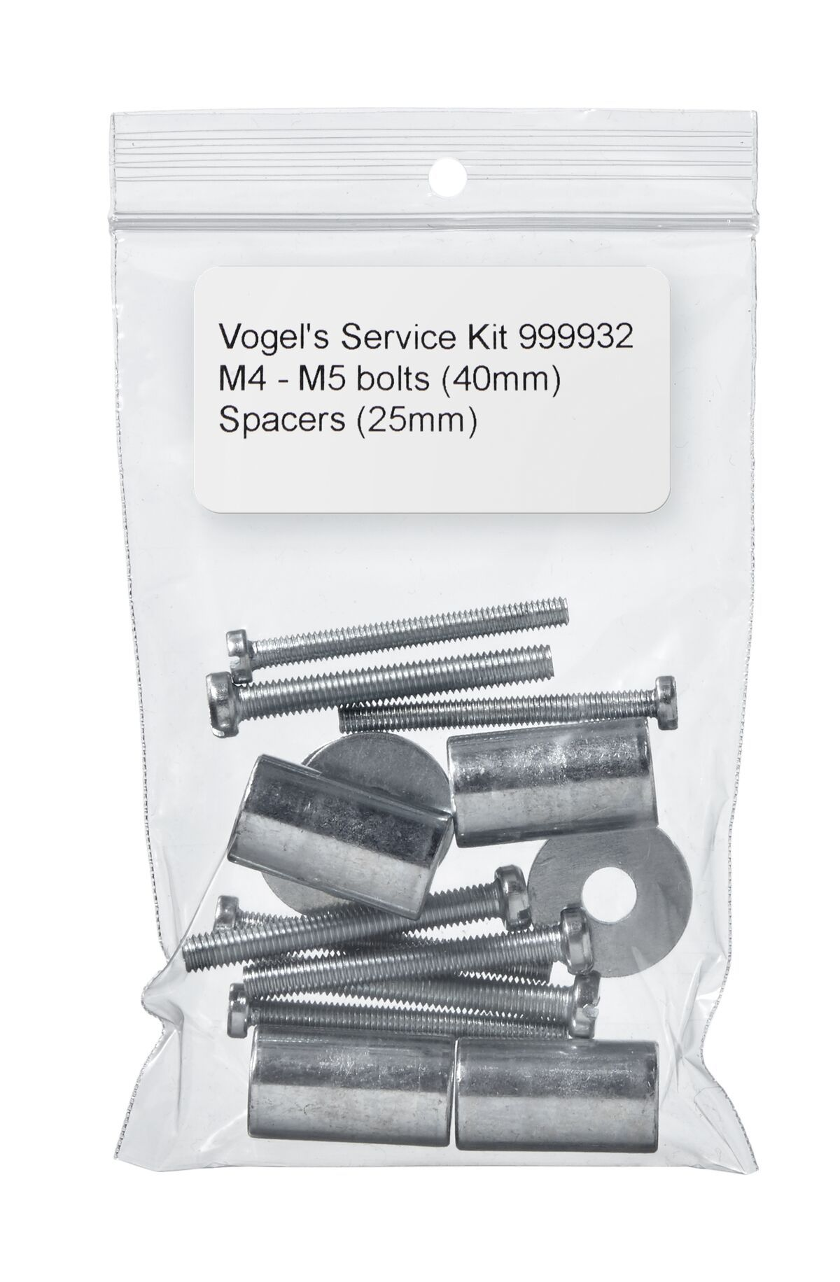 Vogel's Service Kit - Spacers (25 mm), M4-M5 bolts (40 mm) - Product