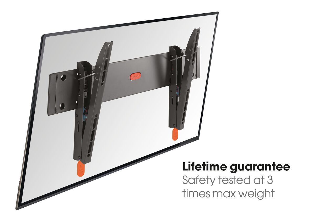 Vogel's BASE 15 M Tilting TV Wall Mount - Suitable for 32 up to 55 inch TVs up to 30 kg - Tilt up to 15° - USP