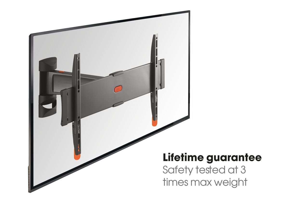 Vogel's BASE 25 S Full-Motion TV Wall Mount - Suitable for 19 up to 43 inch TVs - Motion (up to 120°) - - USP