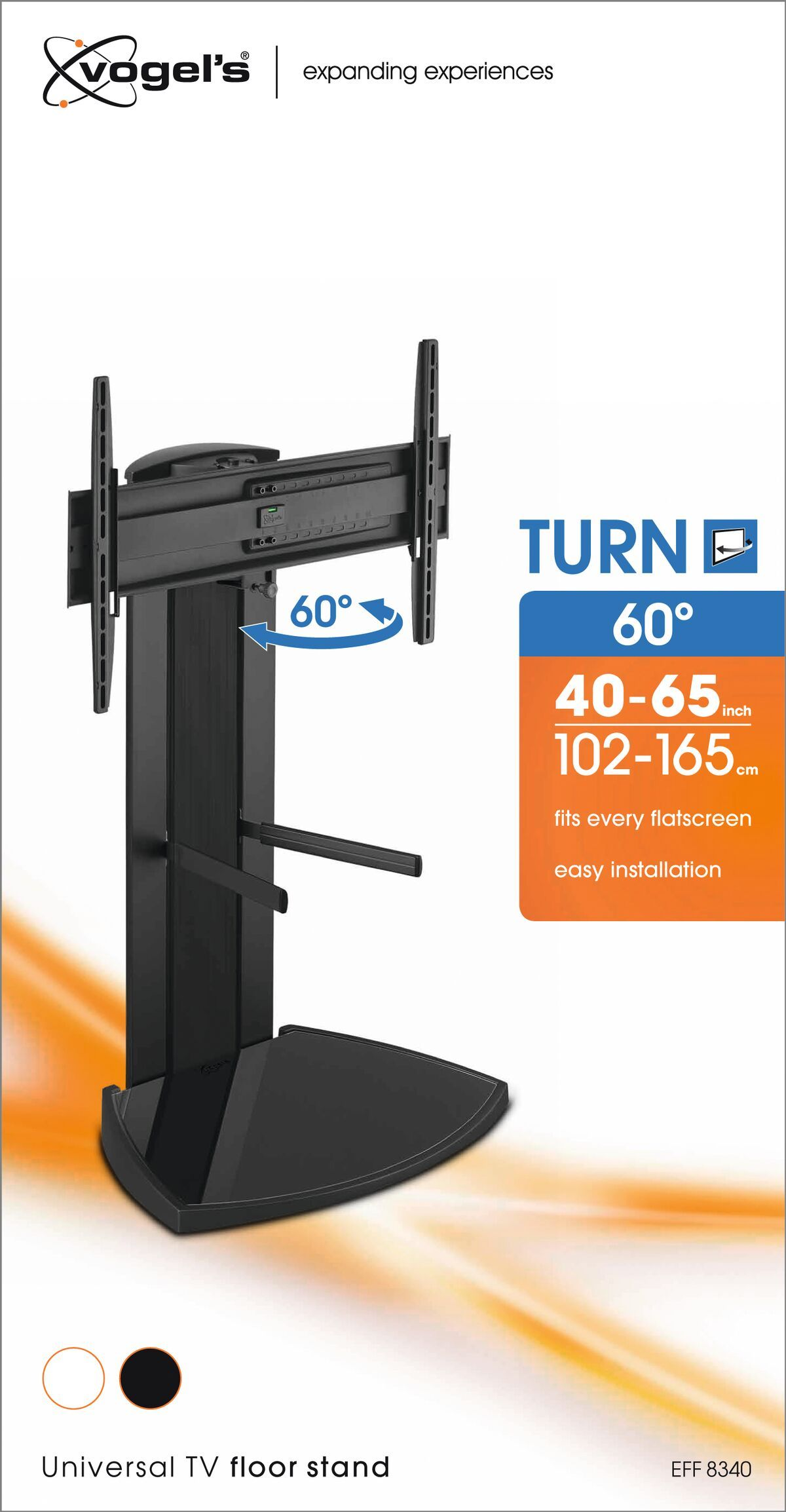Vogel's EFF 8340 TV Floor Stand (black) - Suitable for 40 up to 65 inch TVs up to 45 kg - Packaging front