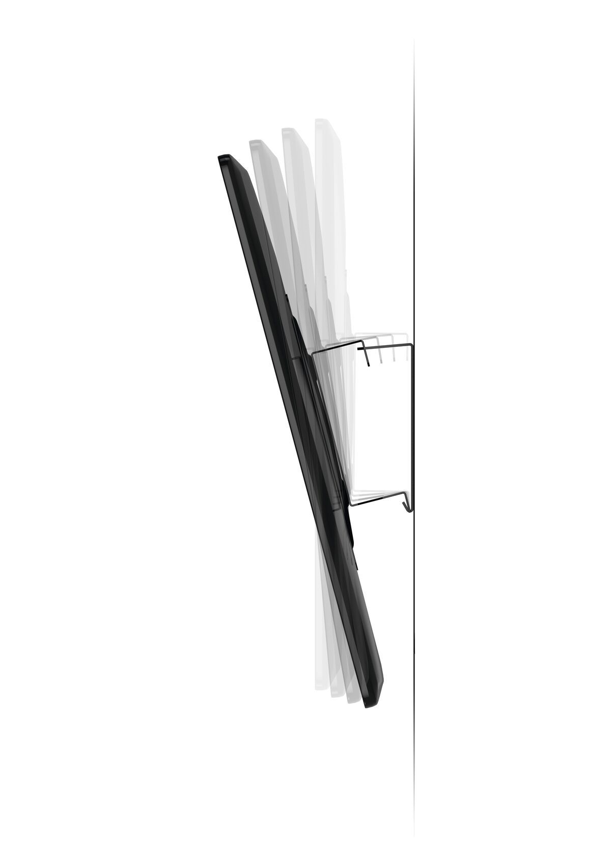 Vogel's MA 2010 (A1) Tilting TV Wall Mount - Suitable for 19 up to 40 inch TVs up to 30 kg - Tilt up to 15° - Side view