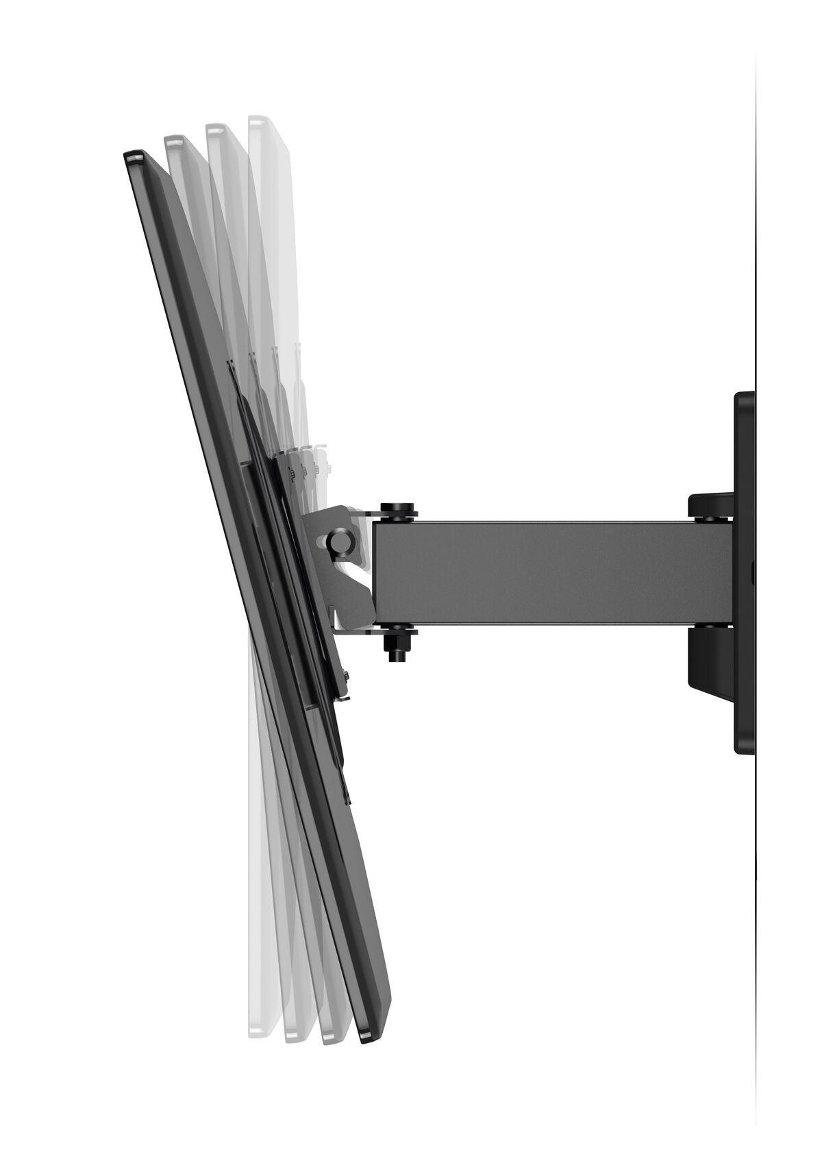 Vogel's MA 2030 (A1) Full-Motion TV Wall Mount - Suitable for 19 up to 40 inch TVs - Motion (up to 120°) - Tilt up to 15° - Side view