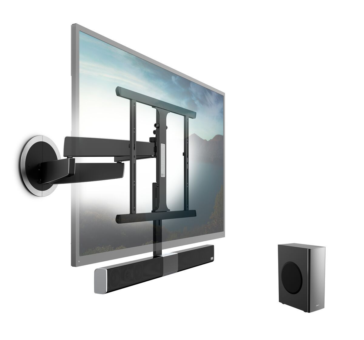 Vogel's SoundMount (NEXT 8365) Full-Motion TV Wall Mount with Integrated Sound 40 65 30 Motion (up to 120°) Product